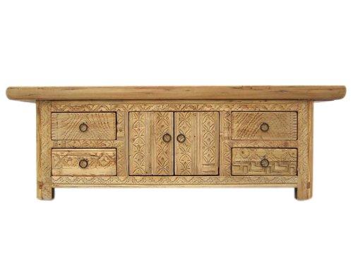 China antik Gansu um 1810 Lowboard flache Anrichte ideal fuer Flachbildschirm Pappelholz
