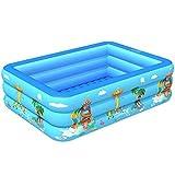 ビニールプール 家庭用プール 子供 暑さ対策 室内プール 室外 水遊び ファミリープール pvc (130*85*50CM)