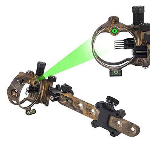 SHARROW Bow Sight 5 Pin / 7 Pin Vista de Arco Compuesto Retina Micro Ajustable Miras para Arcos Compuestos Vista 0.019 Fibra óptica