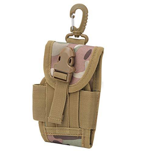 Zhivafip No tóxico Inodoro Robusto Durable Exterior Multifuncional EDC Riñonera Ligero Riñonera para teléfono móvil con Hebilla Portátil para Escalada, Compras, Viajes(CP Camouflage)
