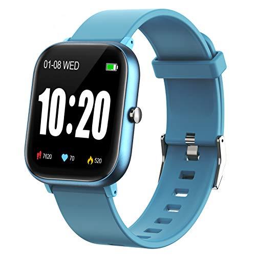 PUBU - Reloj inteligente con monitor de ritmo cardíaco, monitor de actividad con pantalla táctil de 1,3 pulgadas, reloj inteligente con monitor de sueño, contador de pasos para mujeres y hombres