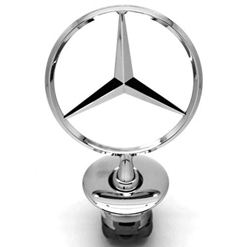 Vehicle Hood Star Emblem Badge For Mercedes Benz (Chrome)