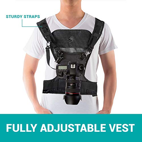 Movo Photo MB700 Universal Single Camera Carrying Vest Holster System