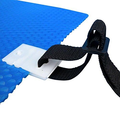 Linxor ® Lote de 8 correas para enrollador con clips cocodrilo para todo el tipo de enrollador para cubierta a burbujas de piscina – Norma CE