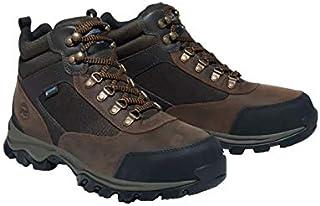 حذاء عمل رجالي من Timberland Pro مصنوع من الجلد/النسيج المقاوم للماء من الصلب عند الأصابع