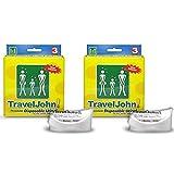 TravelJohn Unisex Einweg-Urinale, wiederverschließbar, 2 x 3 Packungen