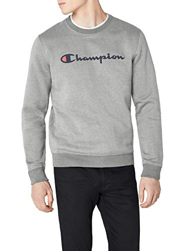 Champion Hombre - Sudadera Classic Logo - Gris, L
