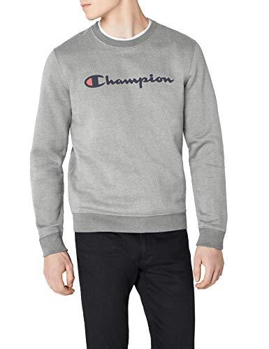 Champion Herren Classic Logo Sweatshirt, Grau, S