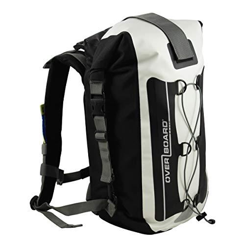 Overboard Premium Wasserdichter Rucksack | 20 Liter Auftriebskörper | 100% wasserdichter Dry Bag Rolltop Rucksack | mit 2-Wege-Falz-Dichtungssystem (Weiß)