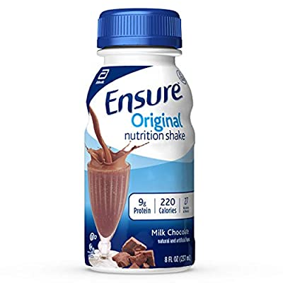Ensure Original Nutrition Shake with 9 grams of protein, Meal Replacement Shakes, Milk Chocolate, 8 fl oz, 24 Count by Ensure Child