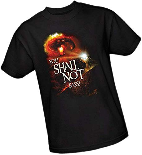 NR The Lord of The Rings You Shall Not Pass T-shirt voor volwassenen