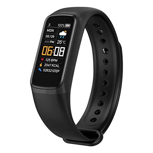 LKM Smart Watch C7 Pulsera de Las Mujeres para Hombre Presión Arterial Durmiente Monitoreo de Ritmo cardíaco Fitness IP67 Pulsera Impermeable,A