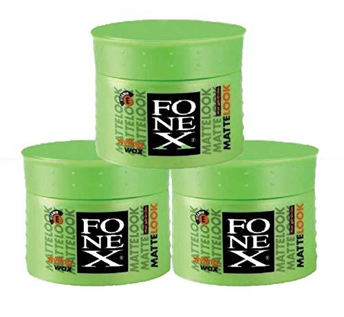Fonex 3x Styling Wax Matte Look je 100ml 3er Set (300ml)