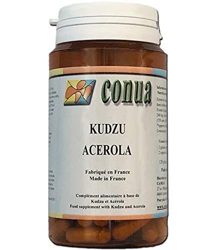 Kudzu, Acerola Vitamin C 120 Kapseln Alkohol Tabak FLASCHE FÜR 2 MONATE 60 Tage Conua seit 2003