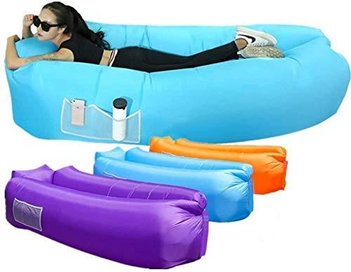 XUE-SHELF Aufblasbare Couch Lounger Bequem und stark Faule Couch Luftmatratze Tragbarer Sofa Durable Travel Abhängen Bag Perfekt für Strand Camping Schlafen