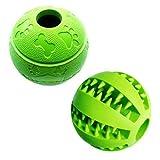 Juguete interactivo para comida de perro, 7,6 – 8,1 cm, verde y azul (1 verde tipo A + 1 verde tipo B)
