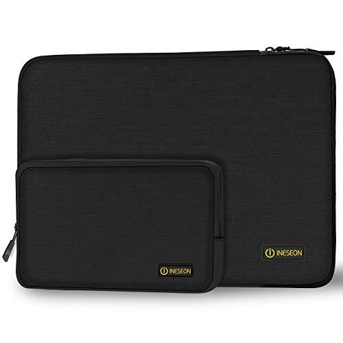 I INESEON Laptop Hülle Tasche Notebook Schutzhülle Sleeve mit Zubehörtasche für 2018 2019 MacBook Pro/Air 13 Zoll, Dell XPS 13, HP Envy 13, Huawei Matebook X 13/ X PRO 13.9, Schwarz