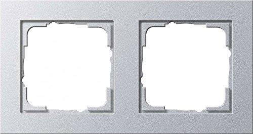 Gira 021225 afdeklijst 2-voudig Gira E2, aluminium