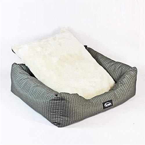 YAOSHUYANG Cama para perros pequeños, funda lavable a máquina, mezcla de algodón transpirable, suave y lavable, ideal para perros y gatos en verano caluroso, 60 x 48 x 18 cm (tamaño: 60 x 48 x 18 cm)