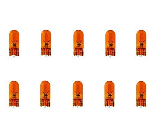 10x WY5W T10 12V 5W W2,1x9,5d BLINKER BLINKLEUCHTEN SEITENBLINKER ORANGE AMBER LAMPEN FALTSCHACHTEL Jurmann® LongLife & Erschütterungsfest