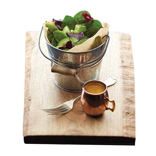Kitchen Craft Serviereimer Master Class Artesa 12cm aus Stahl, Silber, 28 x 18 x 18 cm