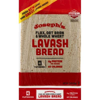 Joseph's Bread, Bread Lavash Wheat 4 Count, 9 Ounce