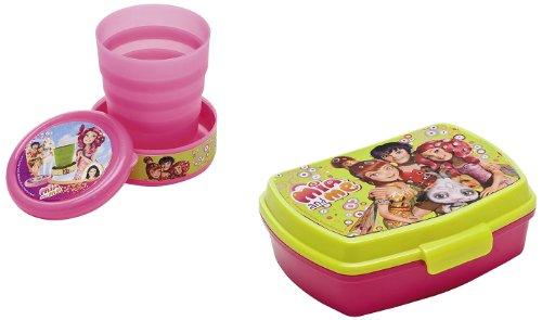 Joy Toy 118145+118146 - Mia and Me Set: inklapbare beker, 240 ml, 8 x 9 cm met jusenbox, 18 x 15 x 8 cm