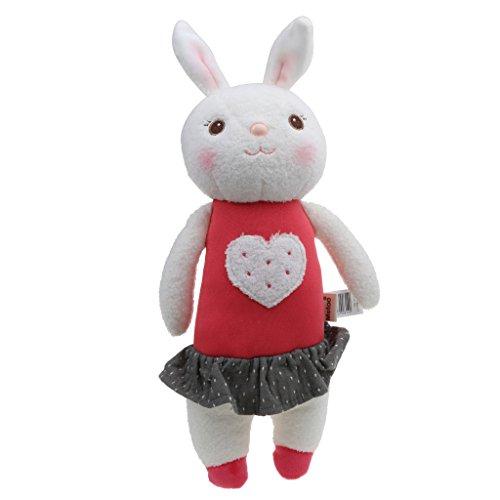 SM SunniMix Lindo Juguete de Felpa Suave Encantadora Muñeca de Conejo Desarrollo Bebé Juguetes Regalo de Cumpleaños - Rojo