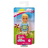 Barbie Club Chelsea Boy Doll (6-inch Blonde) Wearing Monster-Themed Graphic Shirt and Shorts, for 3 to 7 Year Olds