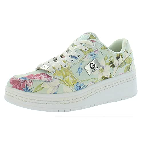 G by Guess Womens Rigster 3 Canvas Floral Fashion Sneakers Blue 9 Medium (B,M)