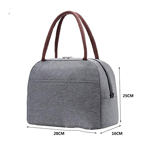Draagbare thermische lunchtas voor vrouwen kinderen mannen schouder voedsel picknick koelboxen tassen geïsoleerde draagtas opslagcontainer, m015 grijs1