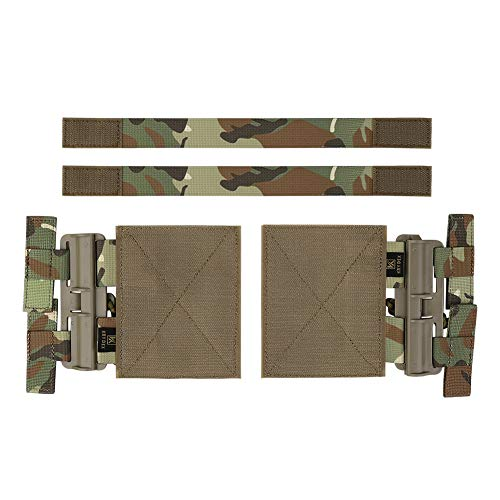 KRYDEX Quick Release Buckle Set,Single Point Molle Quick Disconnect Side Entry Conversion with Hoop and Loop for JPC CPC NCP XPC 420 Vest (Multicam)