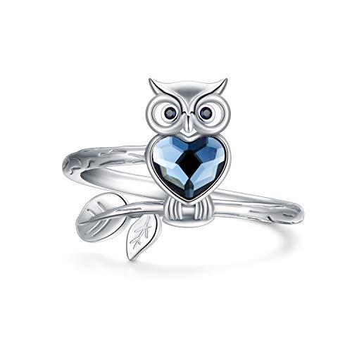 Austrian Crystal Owl Ring