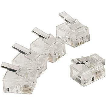 Aerzetix 10 x Connettore spina RJ9 4 pin poli 4p4c .