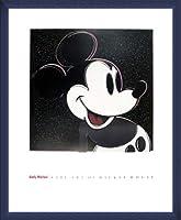 ポスター アンディ ウォーホル The Art Of Mickey Mouse 額装品 ウッドベーシックフレーム(ブルー)