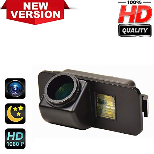 Rear Reversing Backup Camera Rearview License Plate Replacement Camera Night Vision Ip69k Waterproof for Ford Galaxy MK3 Ford Kuga C520 Ford Mondeo MK4 Ford Fiesta/Fiesta Seda Fiesta ST Focus Mk2