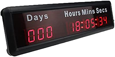 BTBSIGN 1 Red 9Digits LED Countdown Timer Counts Down to a Specific Date