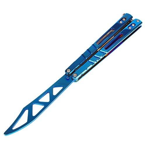 Ran's L CS Outil d'entraînement pliable en acier inoxydable avec trous Bleu