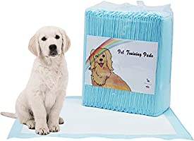Disposable Dog Pet Training Pee Pads, Ultra Absorbent Wee Wee Underpads, Incontinence Puppy Bed Pads, Unscented Portable...