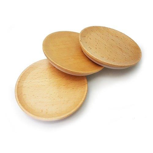 Weck, Deckel aus Buchenholz, für Weckgläser, klein, schöne Buchenholzdeckel, 3 Stück Größe S = 60 mm. Hinweis: Nur für Weck-Gläser geeignet.