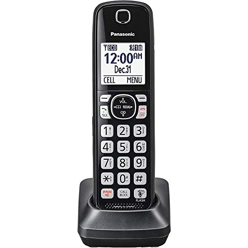 Panasonic KX-TGFA51B Dect 6.0 Digital Additional Cordless Black Handset for TGF5xx Series