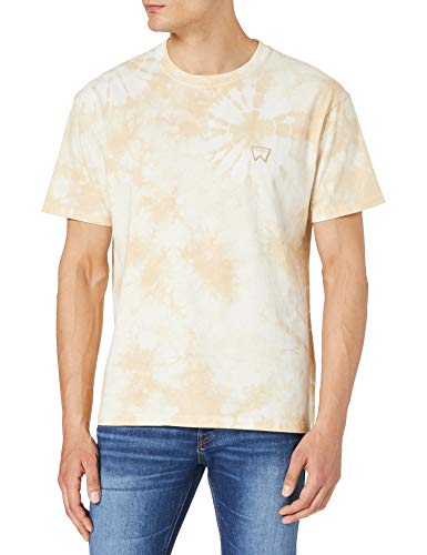 Wrangler Tie Dye tee Camiseta, Beige, XL para Hombre
