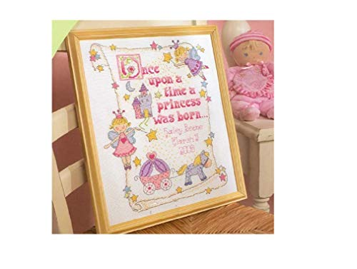 SWEET HOME Kit de broderie au point de croix, fils de coton, 144 x 184 points 36 x 43 cm