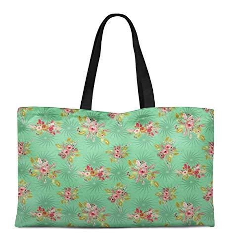 S4Sassy Liście & Split wzór narcyz płótno duża torba na zakupy plażowe zakupy artykuły spożywcze książki 12x16 cali