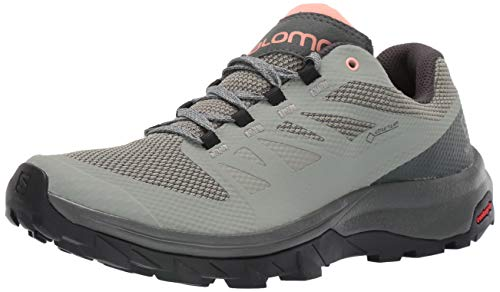 Salomon Women's OUTline GTX W Hiking Shoes, Shadow/Urban Chic/Coral Almond, 8.5