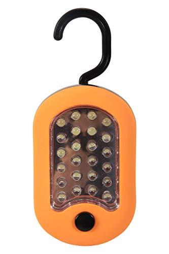 Mountain Warehouse Lanterne de Suspension 24 LED - Lanterne Durable de Jardin Corps ABS, Lampe extérieure Fini Caoutchouc Doux, Ampoule très Lumineuse-Camping, randonnée Orange Taille Unique