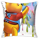 Ahdyr S-efgyh W-innie The P-ooh Pillow Cover Cushion Cover W-innie The P-ooh Decorative Pillow Case Sofa Seat Car Pillowcase Soft 18x18 Inch