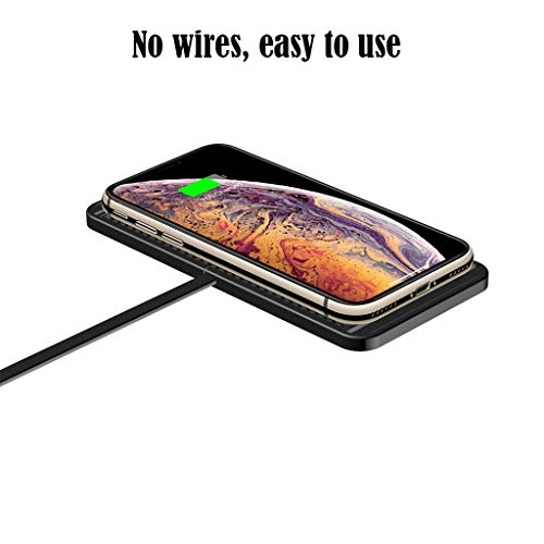 MXJEEIOWireless Charger Qi 2in1 Cargador inalámbrico para coche Cargador rápido Carga inductiva para iPhone X/8/8 Plus, Galaxy S9/S8/S8 Plus/S9/Note 8; Nexus, HTC, LG y Teléfonos Qi-Enabled