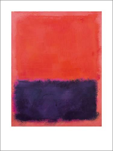Kunstdruck / Poster Mark Rothko - Untitled, 1960-61 - 60 x 80cm - Premiumqualität - Abstrakte Malerei, abstrakter Expressionismus, Farbfelder, verschwommen, monochrome Farbflächen - MADE IN GERMANY - ART-GALERIE-SHOPde
