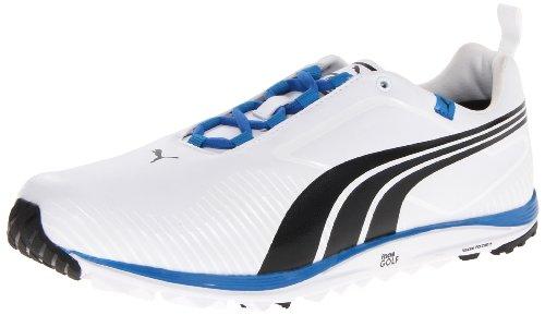 PUMA Men's faas lite-m, White/Black/Brilliant Bluet Blue, 10.5 M US